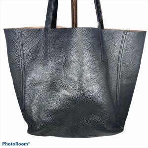 Shinola Detroit Black Leather Tote AUTHENTIC